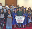 "Participants of the ""Undocugraduation"" for undocumented high school graduates gathered in Raleigh on May 19 to call for fairness and equal access to education in North Carolina. Photo courtesy Let's Learn NC"
