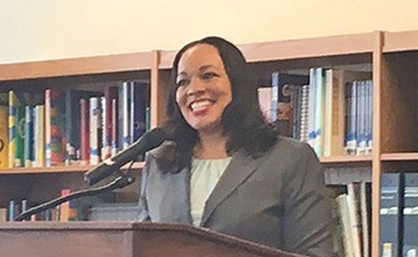 Sharon L. Contreras is the first female superintendent of the Guilford County Schools.