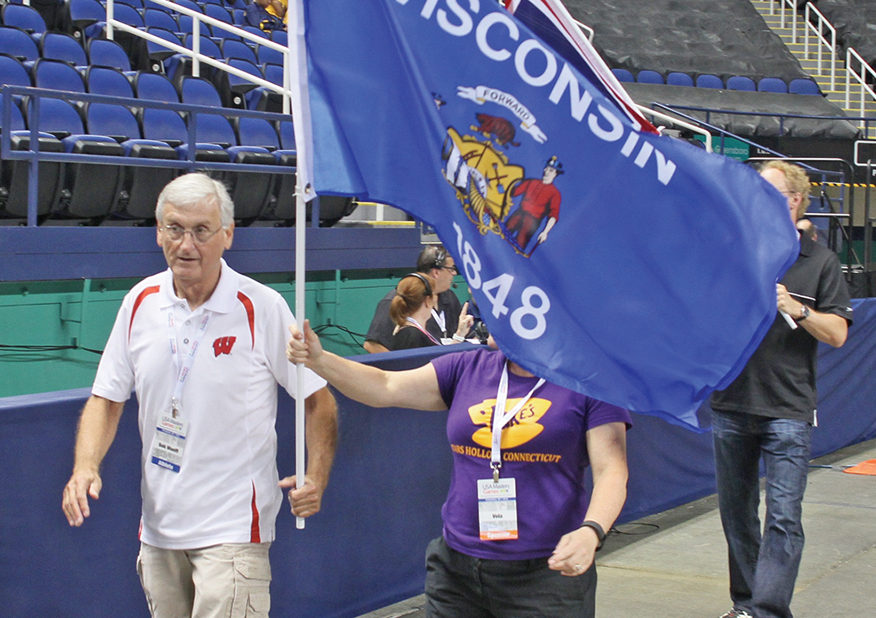 Athletes from Wisconsin enter the coliseum during the Parade of Athletes. Photo by Joe Daniels/ Carolina Peacemaker