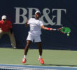 Donald Young, USA, beat Pierre-Hugues Herbert, France, 6-4, 6-1 in the second round of the Winston-Salem Open. Photo by Joe Daniels/Carolina Peacemaker