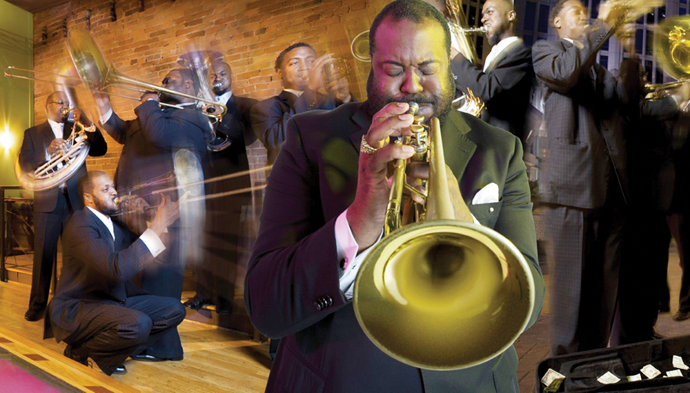 Charlotte's Cedric Mangum is the leader of a gospel brass shout band, Mangum & Company, which will perform at the National Folk Festival in Greensboro. Photo Courtesy NFF