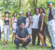 Katina Amadi and Shaping of a Diamond cast members. From L-R: Kevin Hayes, Jenna McMillan, Whitney Neal, Al Green, Amadi, Andre' Hickman, Lateisha Carter, Ja'Ire Springer and Dominique Faison (bending down). Courtesy photo