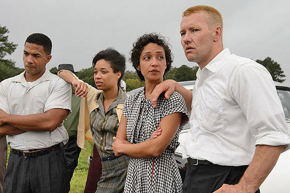 "Joel Edgerton (right) and Ruth Negga (second from right) star in ""Loving."" Courtesy Focus Features"