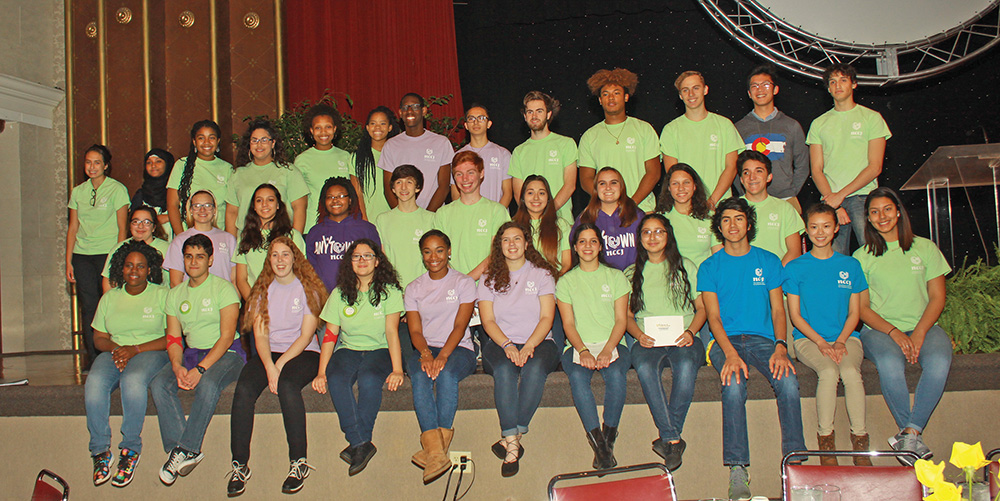 """NCCJ Anytown members. """"It is our young people who are the most fearless when it comes to embracing change and creating a future that is truly free of racism and bias,"""" said Nora Carr, NCCJ Board Chair. Photo by Charles Edgerton/ Carolina Peacemaker"""