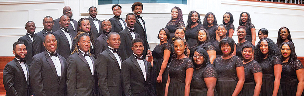 The North Carolina Agricultural & Technical State University Choir. Maestro Travis W. Alexander, Deborah Holt Noel and Tobias Hill.