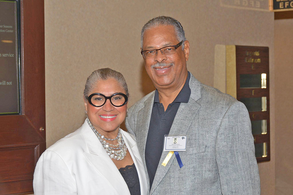 Salie Melendez with her late husband, Greensboro attorney and civic leader, Marquis D. Street.