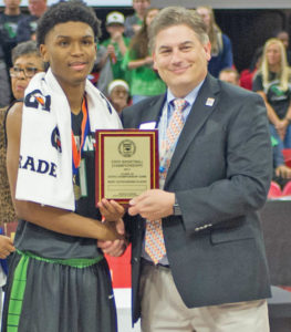 Senior point guard Kam Langley was named the Charlie Adams 4-A MVP of the game after finishing with 14 points, 11 assists and six rebounds for the SWG Cowboys.