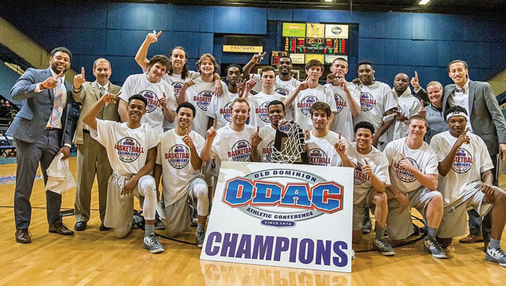 Guilford, champion of the Old Dominion Athletic Conference, is making its fifth NCAA Tournament appearance and its first since 2010.  The Quakers (23-5) will play Thomas More College (22-6) of Crestview Hills, Kentucky in Friday's (March 3) first-round contest at Marietta College's Ban Johnson Arena.  Photo courtesy Guilford Sports
