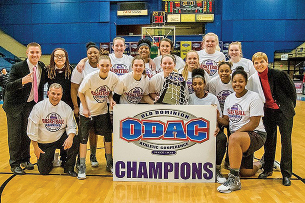 Guilford College will host NCAA Division III Women's Basketball Tournament games this Friday and Saturday (March 3-4) in the Ragan-Brown Field House on campus. Photo courtesy Guilford Sports