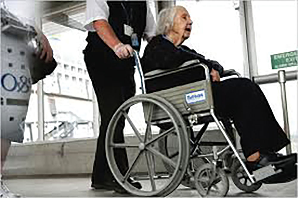Airlines that provide wheelchair service from gate to gate are not skilled at providing additional help such as the passenger's need to use a restroom.