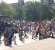 Hundreds of Triad residents gathered Saturday, April 22, at Greensboro's Government Plaza to participate in the March for Science. Chanel Davis/Carolina Peacemaker