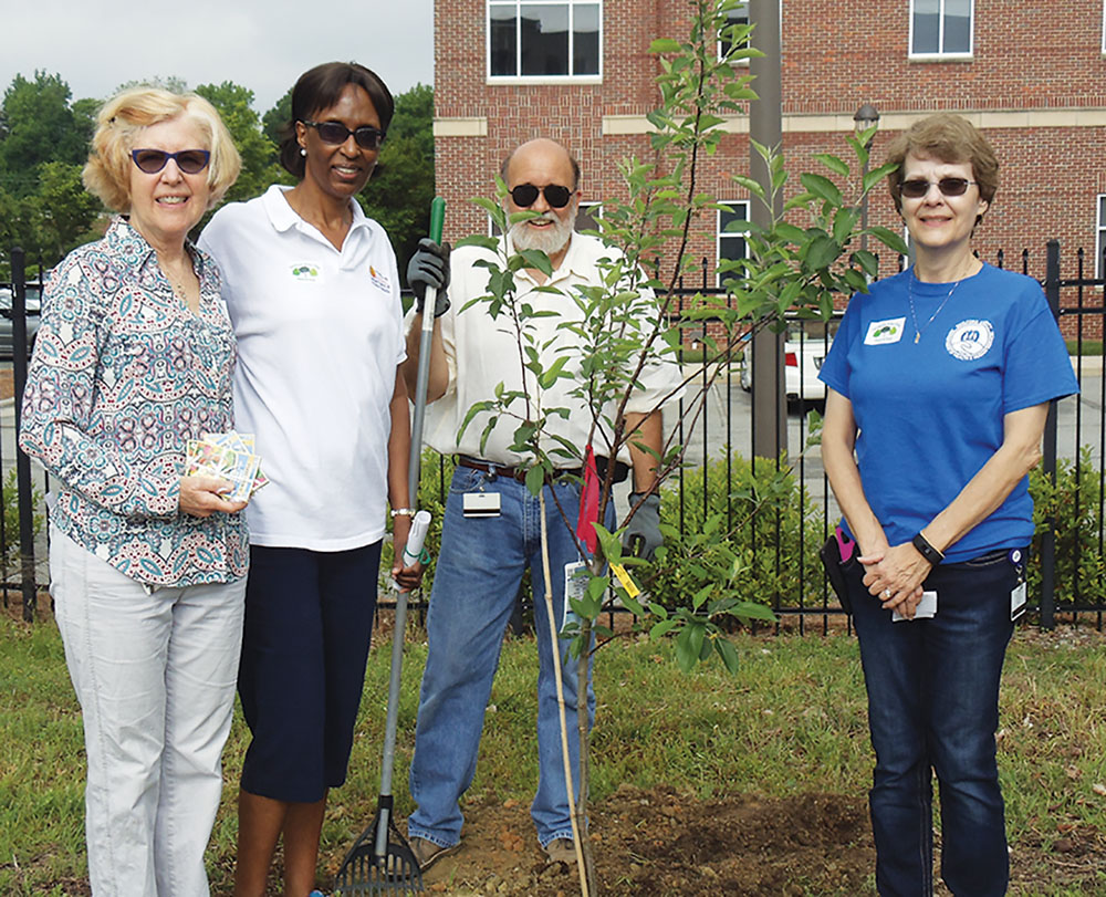 (L-R) – Hospice and Palliative C Sallie Cobb of Greensboro horticulturist; Merle Green, Guilford County Health director; Mark Smith, public health epidemiologist and Sandy Ellington, public health media coordinator. Submitted photo