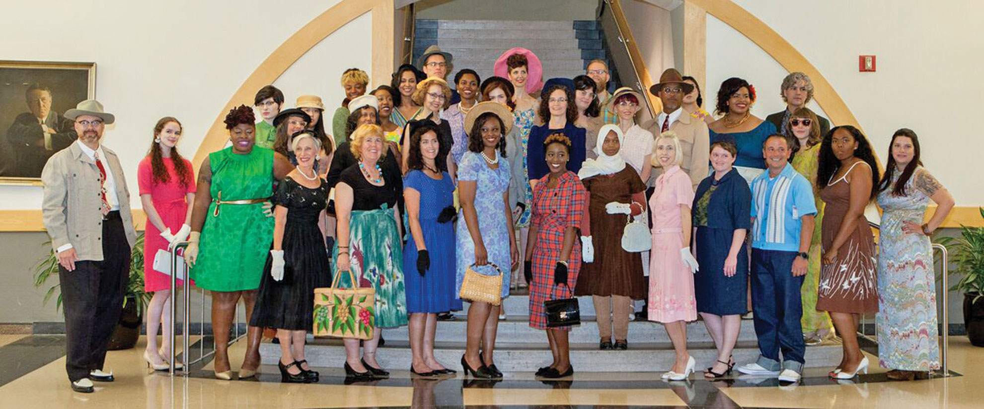 Fashion model participants at the Greensboro Central Library.
